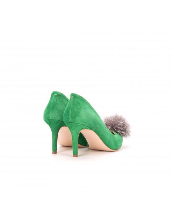 Pantofi eleganti stiletto verzi 1721-P