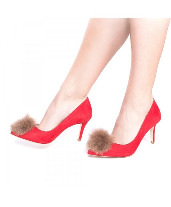 Pantofi eleganti stiletto rosii 1721-P