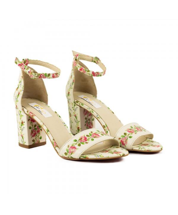 Sandale comode floral 1614b