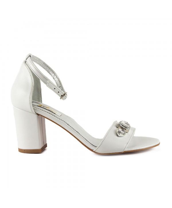 Sandale comode albe 1614b
