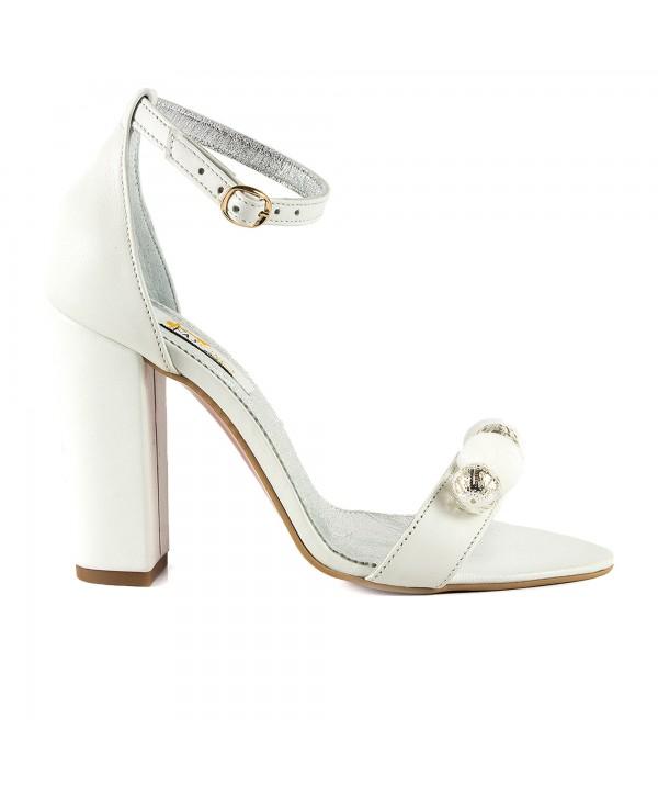 Sandale elegante albe 1713-P