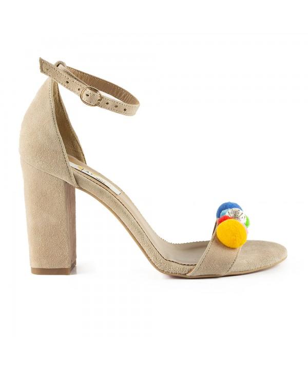 Sandale elegante crem 1713-P