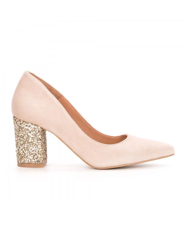 Pantofi eleganti crem 1714-G