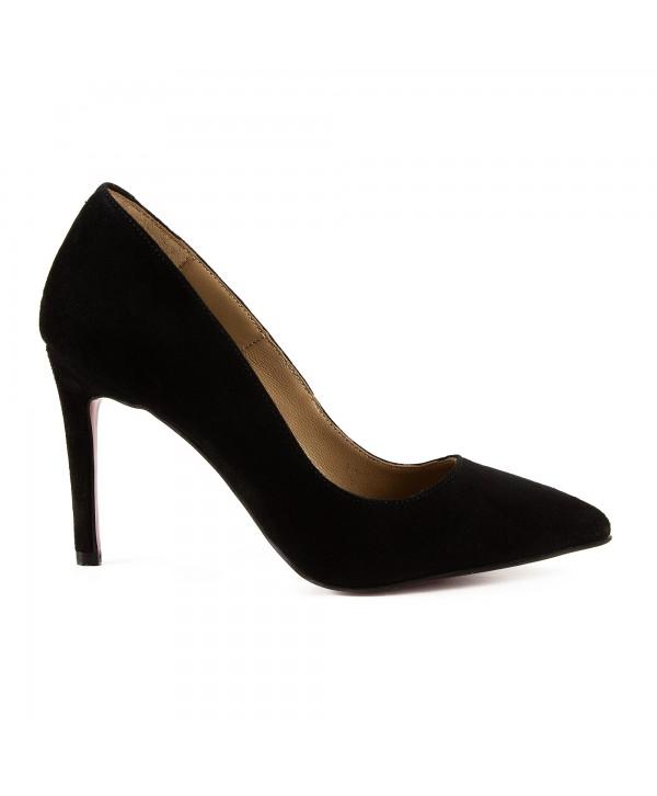 Pantofi eleganti negri camoscio 1716