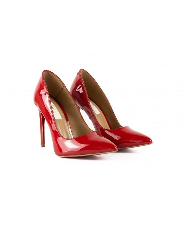 Pantofi eleganti stiletto rosii 1717