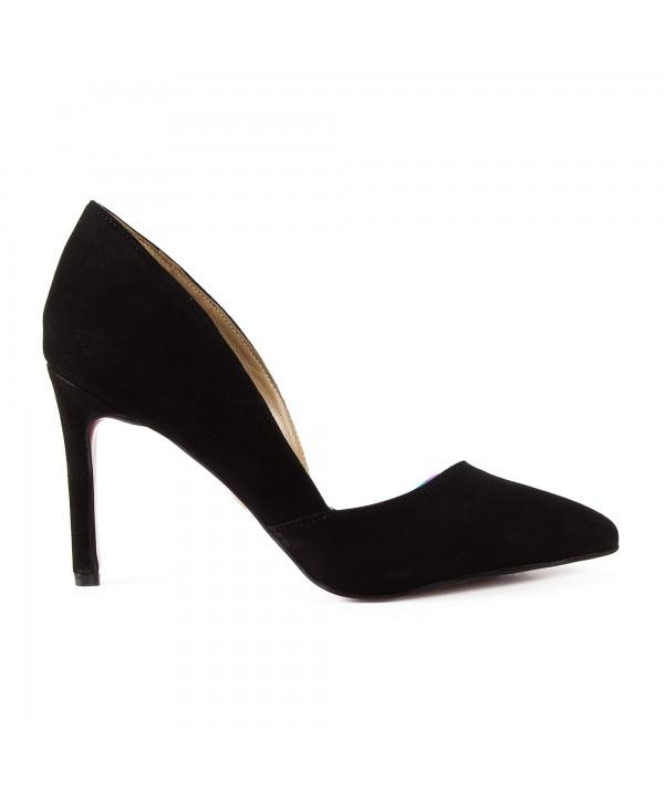 Pantofi eleganti negri 1718-S