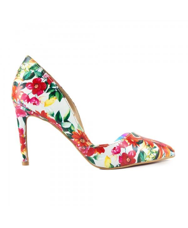 Pantofi eleganti multicolor 1718-S
