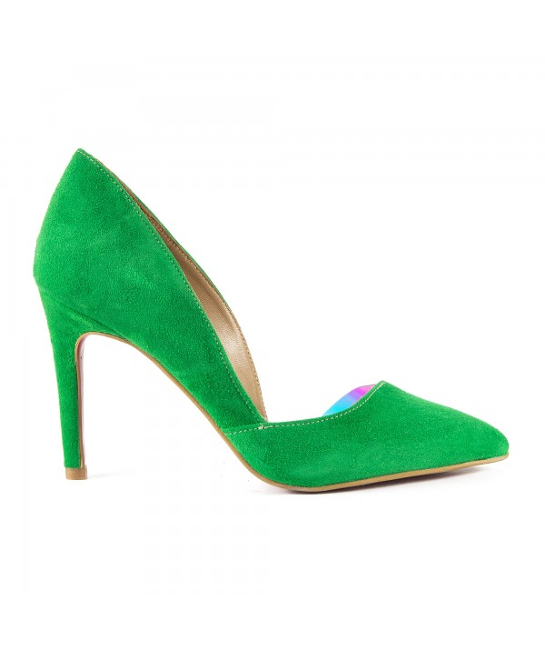 Pantofi eleganti verzi 1718-S