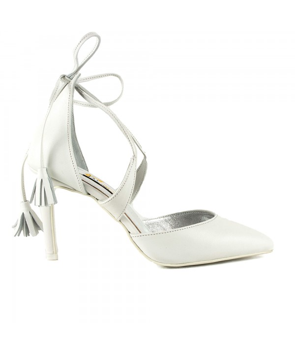 Pantofi eleganti albi 1720