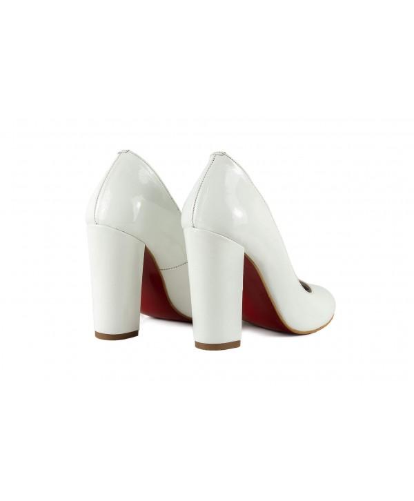 Pantofi eleganti albi 1722
