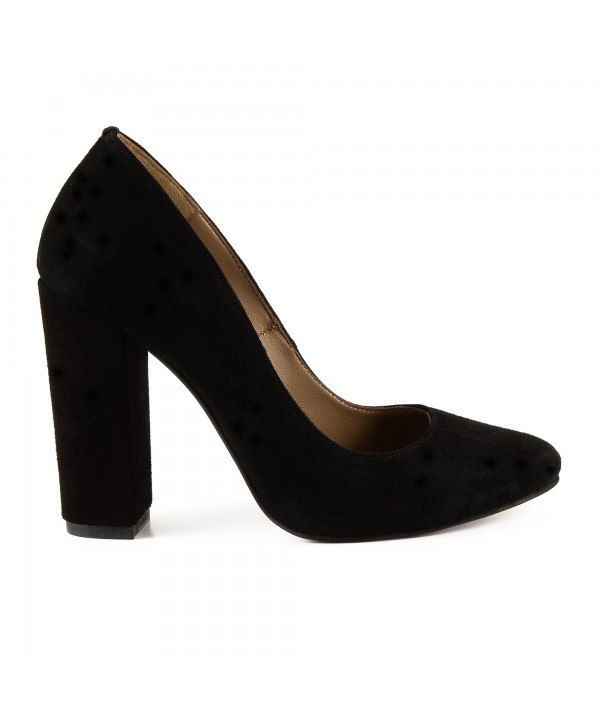 Pantofi eleganti negri camoscio 1722