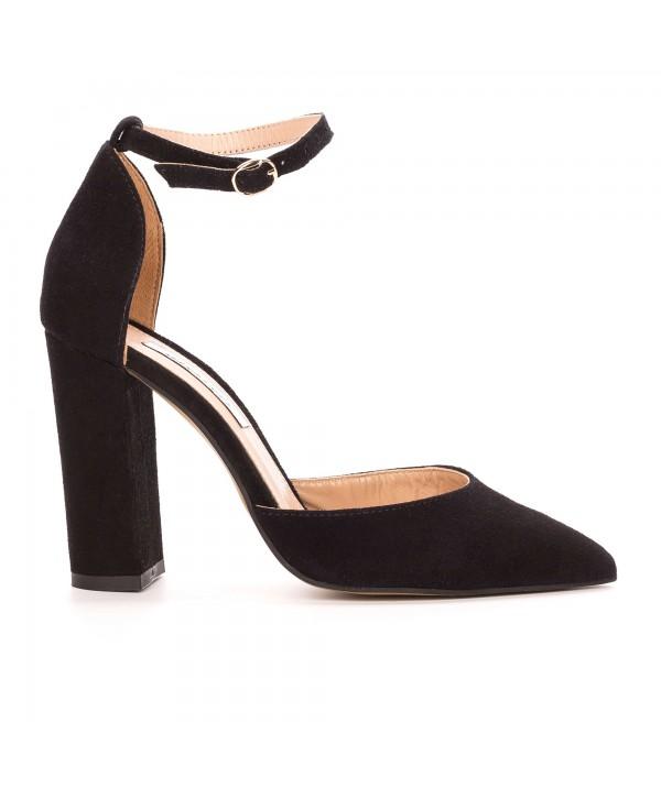 Pantofi eleganti decupati negri 1724