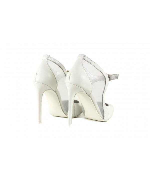 Pantofi eleganti stiletto albi 1728