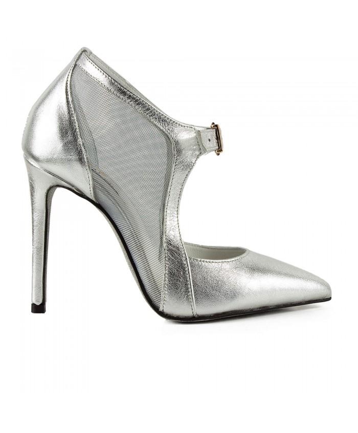 Pantofi Eleganti Stiletto Argintii 1728