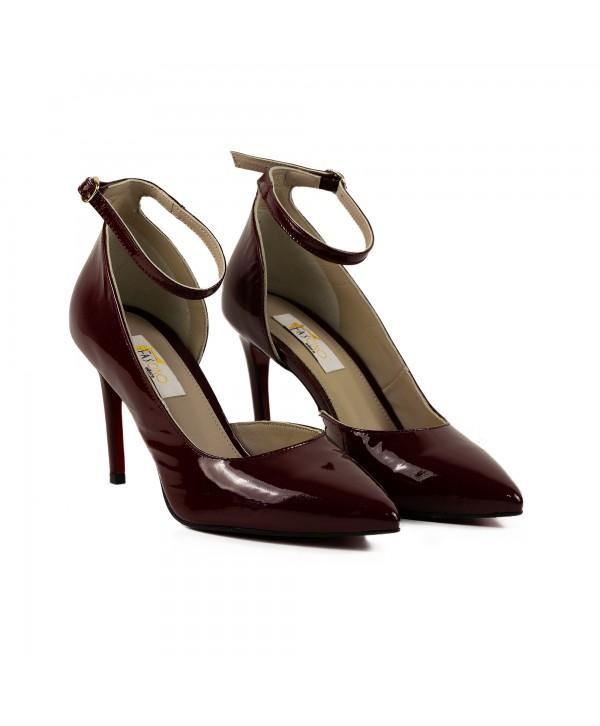 Pantofi eleganti bordeaux 1730