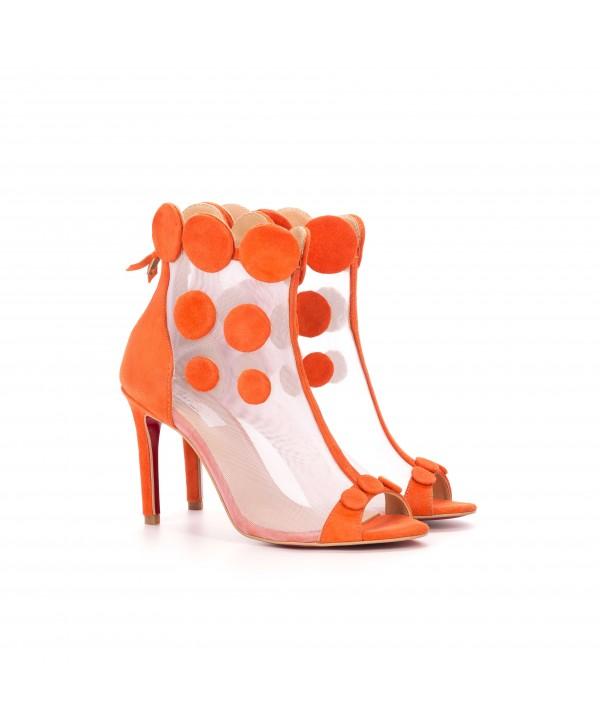 Botine-sandalute deosebite portocalii 1801