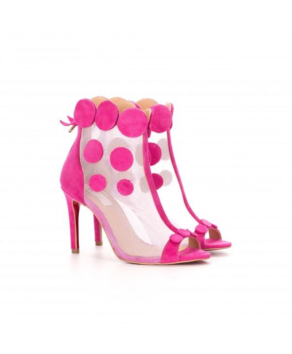 Botine-sandalute deosebite roz 1801