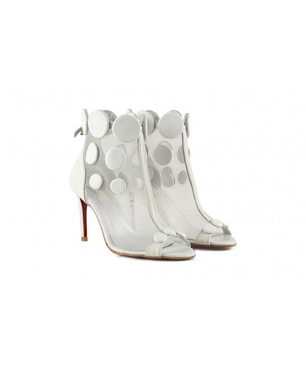 Botine-sandalute deosebite albe 1801