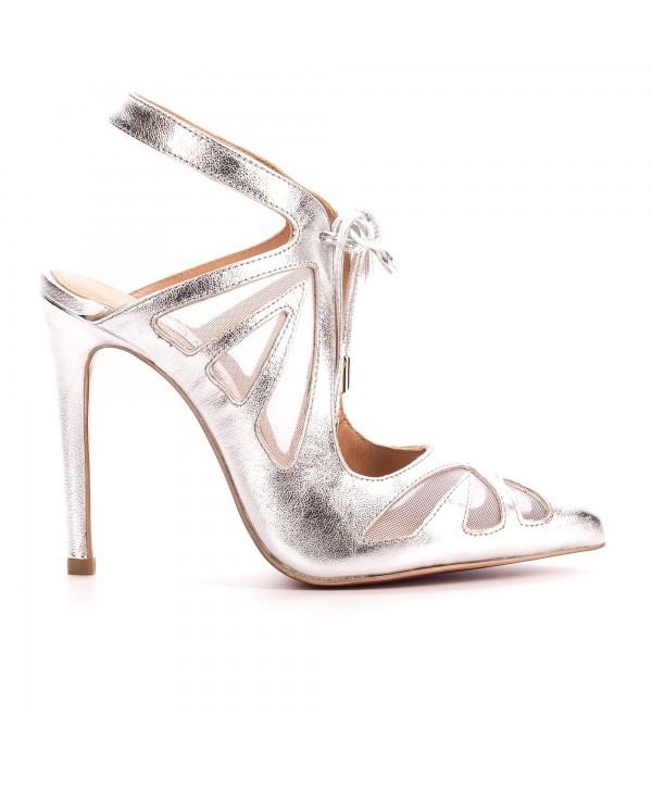 Cindy - Pantofi deosebiti argintii 1802