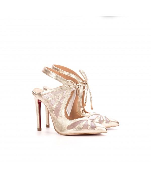 Cindy - Pantofi deosebiti aurii 1802