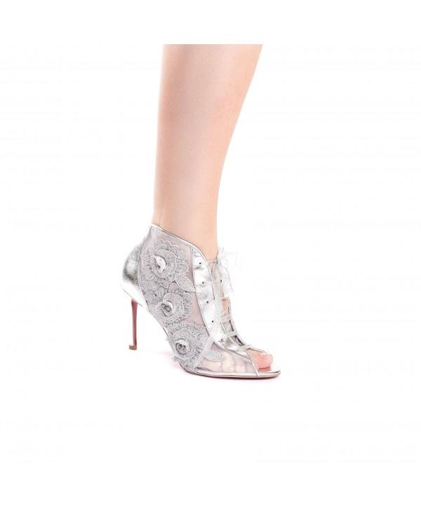 Evelina - Pantofi eleganti argintii 1803