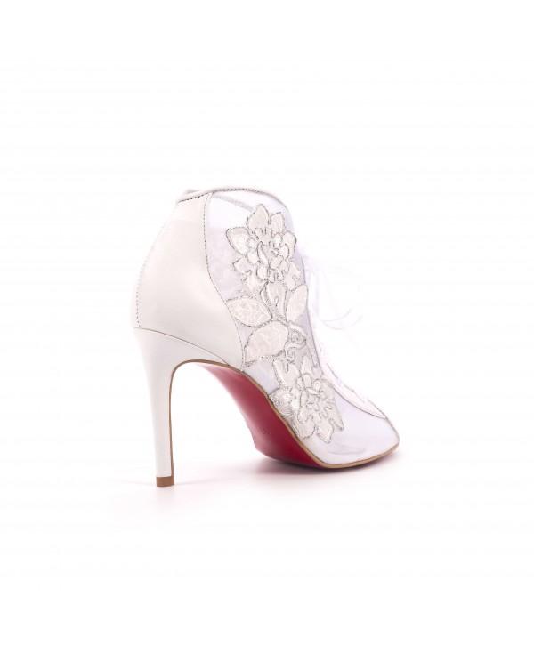 Evelina - Pantofi eleganti albi 1803