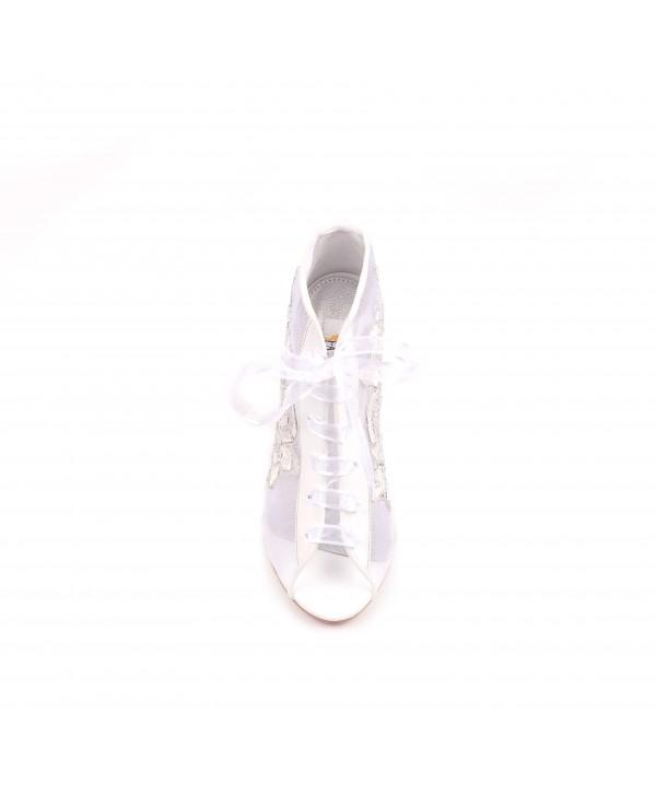 Pantofi eleganti albi 1803