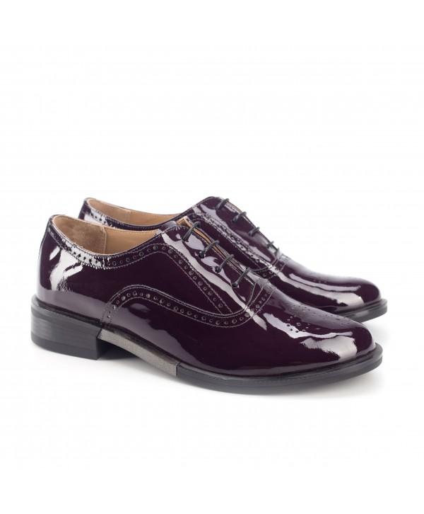 Pantofi oxford mov inchis 1809