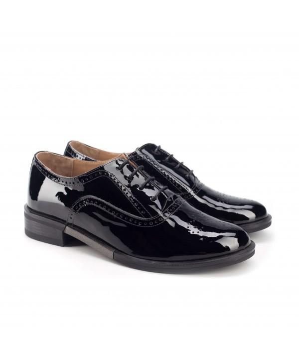 Pantofi oxford negri luciosi 1809