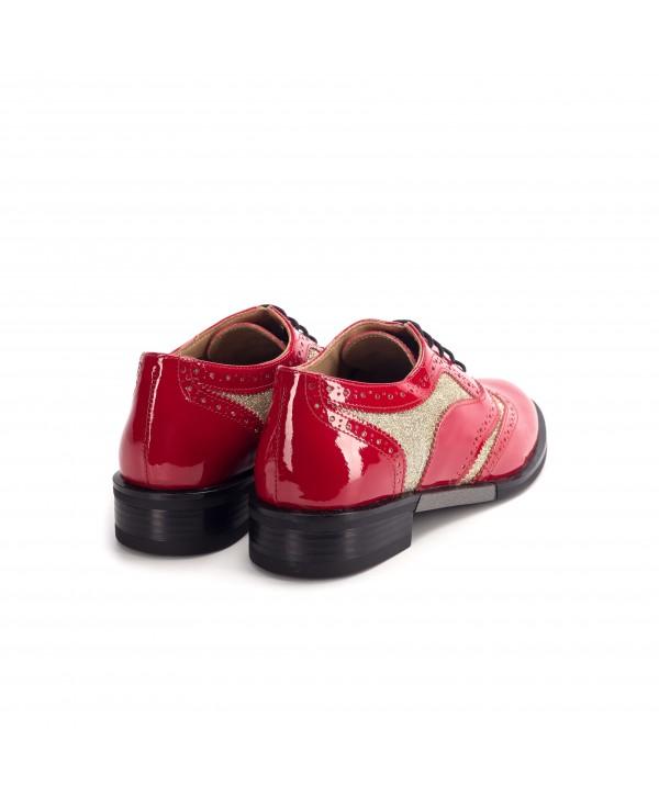 Pantofi oxford rosii luciosi 1810