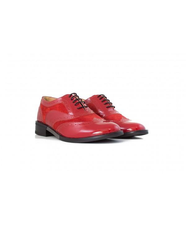 Pantofi oxford rosii 1810