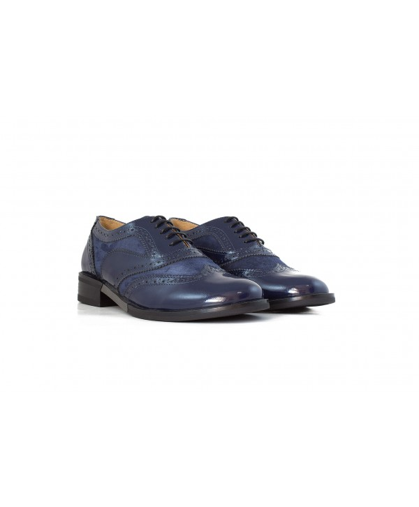Pantofi oxford albastri 1810
