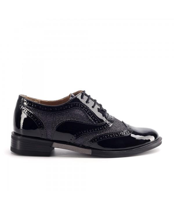 Pantofi oxford negri luciosi 1810