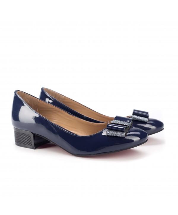 Pantofi eleganti albastri luciosi 1813-P