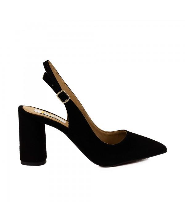 Pantofi tip sandala negri 1815
