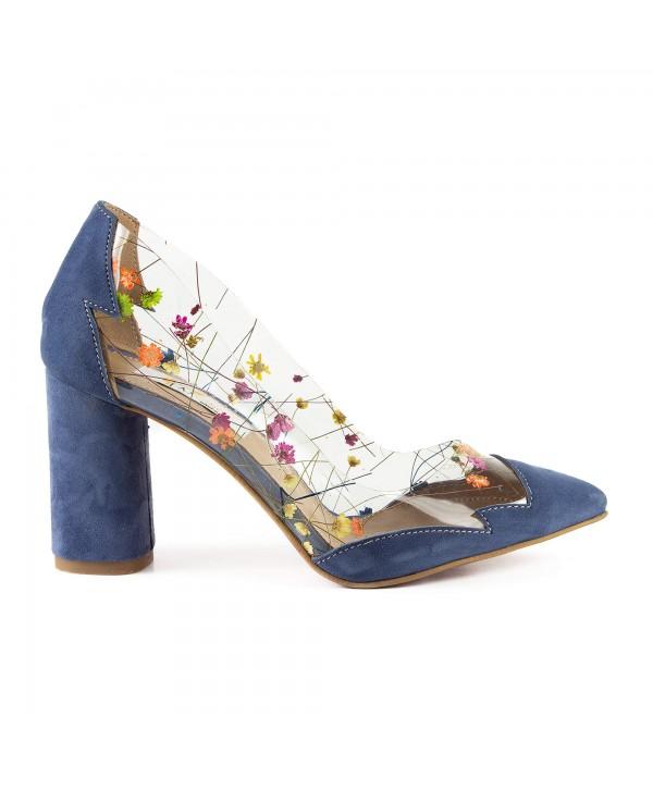 Pantofi eleganti albastri 1902