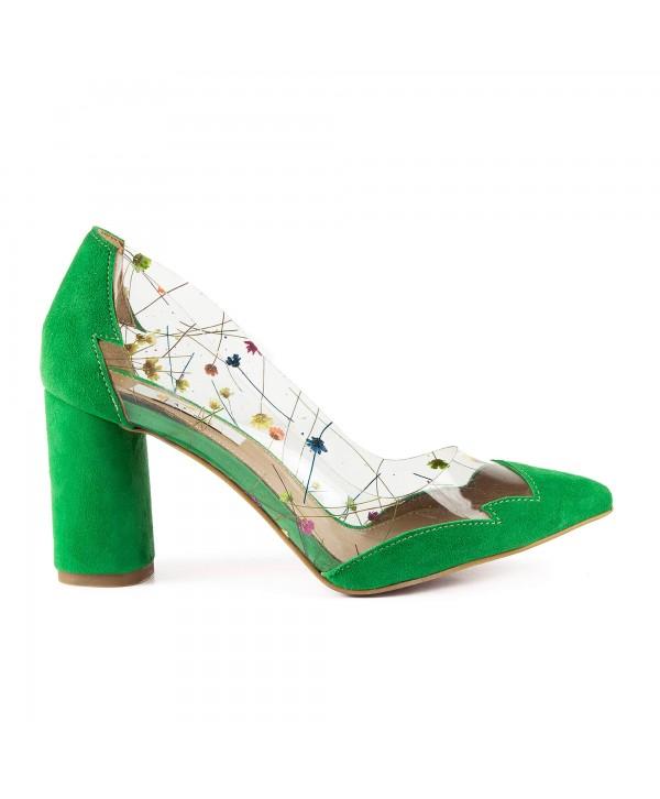 Pantofi eleganti verzi 1902