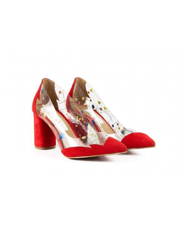 Pantofi eleganti rosii 1902