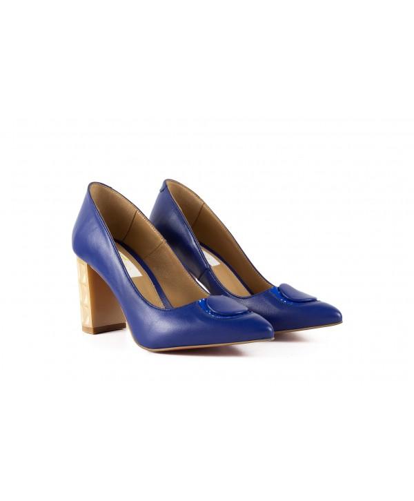 Pantofi eleganti albastri 1905