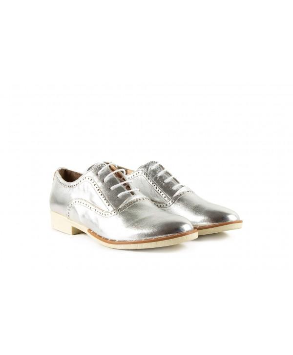 Pantofi oxford argintii albi 1909