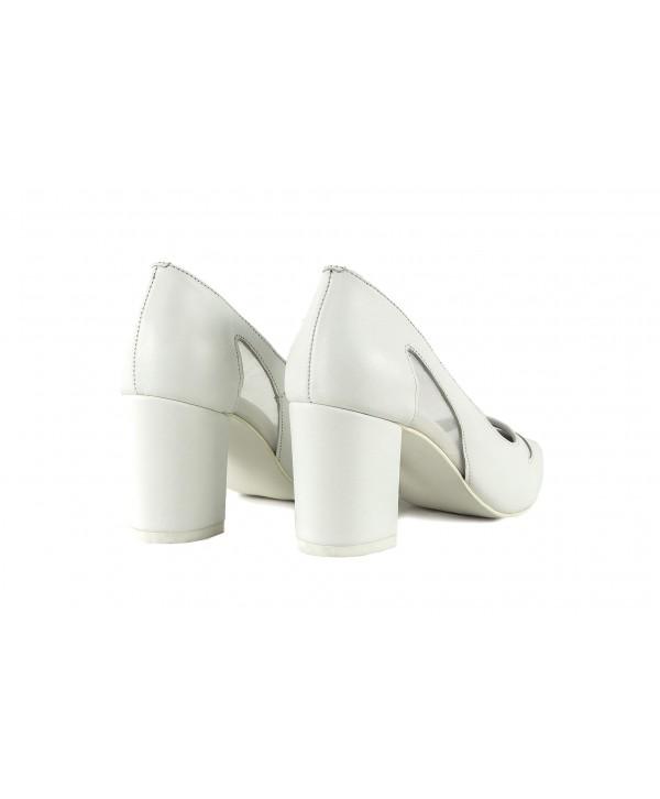 Pantofi eleganti albi 1911