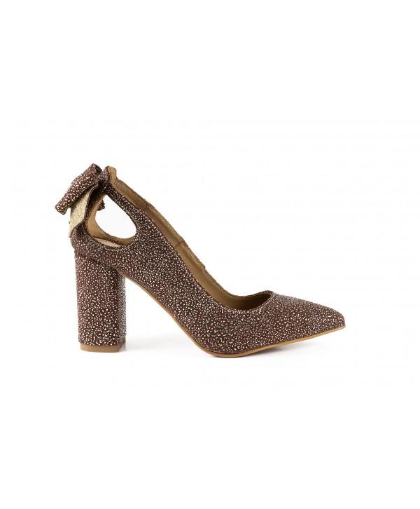 Pantofi eleganti maro buburuzat 1913