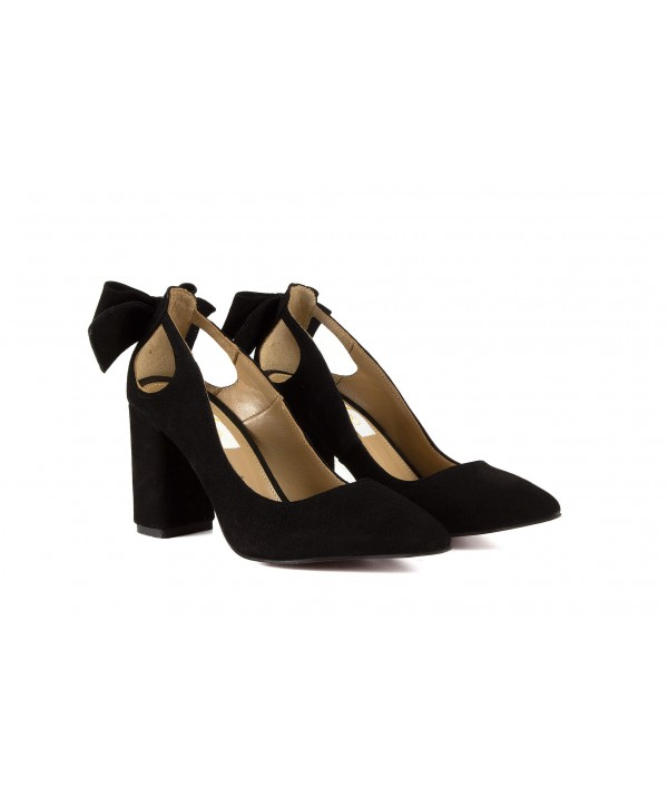 Pantofi eleganti negri camoscio 1913