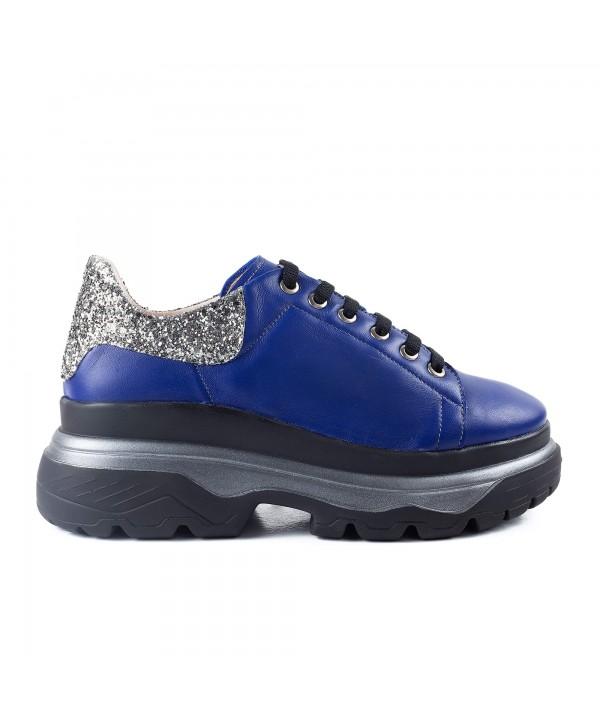 Sneakers albastri glitter 1917