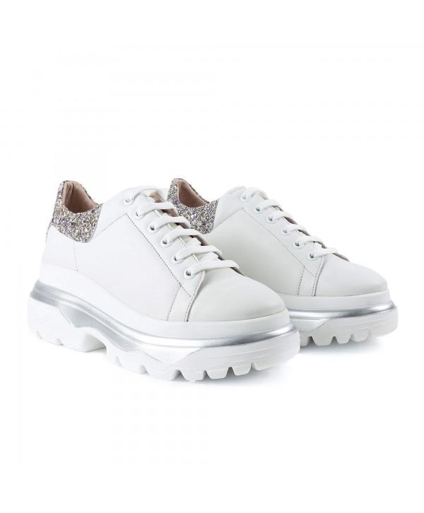 Sneakers albi glitter alb 1917