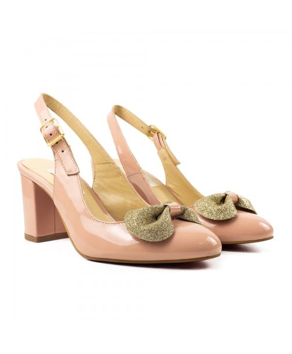 Pantofi decupati rose 1919
