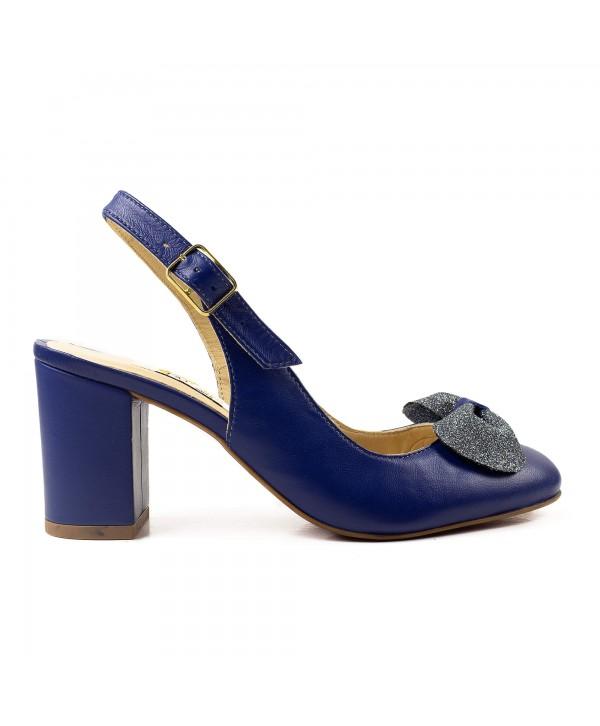 Pantofi decupati albastri 1919
