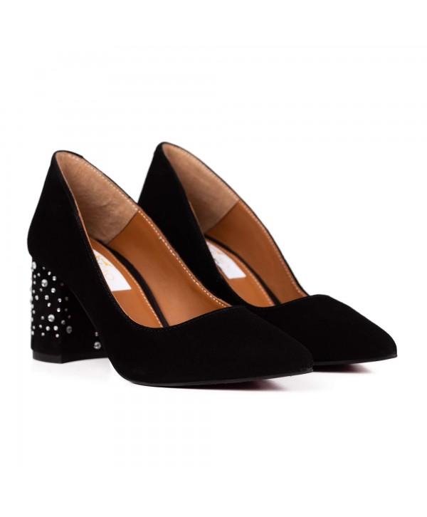 Pantofi eleganti comozi negri 2001