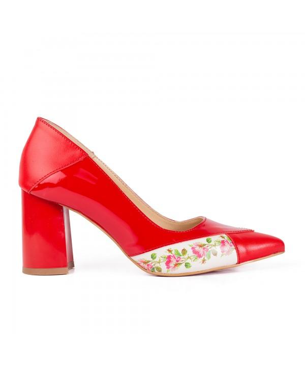 Pantofi eleganti rosii 2015