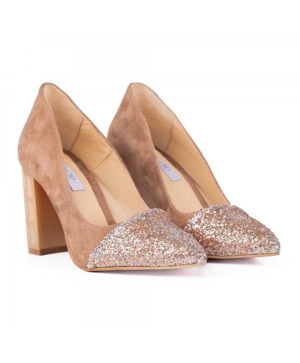 Pantofi eleganti crem 2016